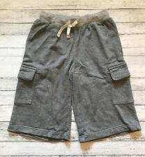 Hanna Andersson Grey Cargo Sweat Shorts 130 cm 8 Y