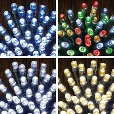 50/100/200 LED TIMER LIGHTS BATTERY OPERATED STRING CHRISTMAS FESTIVAL XMAS BNIB