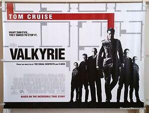 Valkyrie Tom Cruise Original 2009 UK Cinema Quad Movie Poster