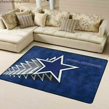 2021 Dallas Cowboys Fluffy Floor Mat Living Room Bedroom Non-Slip Carpet Decor