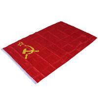 Red Cccp Russian Union of Soviet Socialist Republics 3x5' Feet Ussr Flag Banner