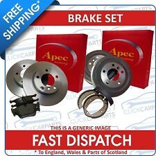 Volvo S60 S80 Front & Rear Brake Discs & Pads Shoes 286