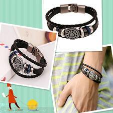 Metal Studded Wristband Leather Bracelet Cool New Unisex Women Men Fashion Punk