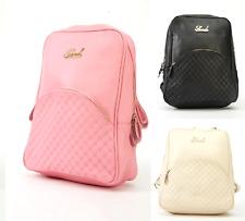 Women Handbag Front Pocket Quilted Faux Leather Backpack Bookback, Racksack, UK