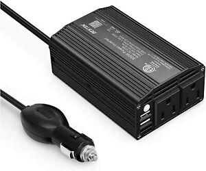 BESTEK 300W Power Inverter DC 12V to 110V AC Car Inverter with 4.2A Dual USB Car