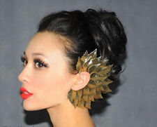 Design Ladies Gothic Punk Sexy Big Leaves Feather Left Ear Cuff Earring Top