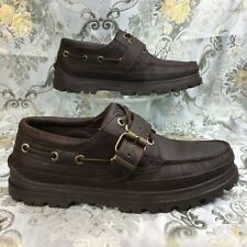vintage Ralph LAUREN POLO leather Duck harness/buckle oxford/loafer/moc/boot 10