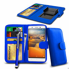 Clip On PU Leather Wallet Case Cover & Pen For Lenovo Vibe X2