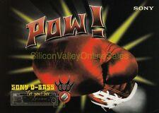 1997 TOWER RECORDS - Sony D-Bass POW! Punching Glove Postcard