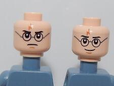 Lego Minifigure Head Harry Potter Dual Sided Harry Glasses & Lightning Bolt H41