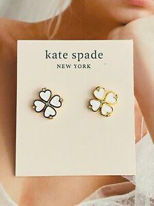 Kate Spade New York White clover Stud Earrings