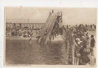 The Water Chute Littlehampton Sussex Vintage Postcard R&E Cross 612b