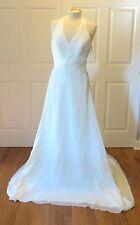 Wedding Dress Gown sz 12 Pronovias Barcelona Halter