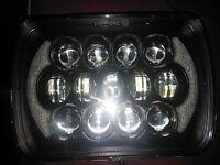 F100 F250 WESTERN STAR  5 x 7 inch  105W *LEGAL*  H6054  LED + DRL Headlights