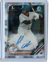 2019 bowman chrome prospect 1st bowman auto Isiah Gilliam New York Yankees