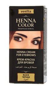 HENNA COLOR Cream for eyebrows, Black, 15g