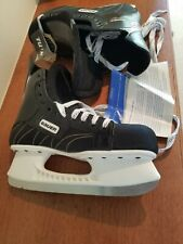 Bauer Impact 200 White Ice Tuuk Fast Steel Black Hockey Skates Size Us M 12 R