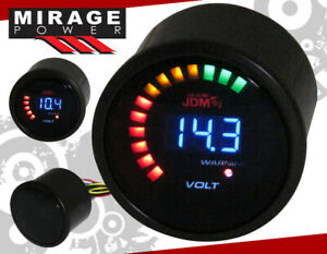"2"" 52MM Digital Blue LED Voltage Meter Racing Monitoring Gauge Meter For Scion"