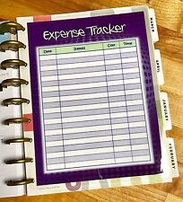 Expense Tracker Dashboard Insert for use with HAPPY Planner