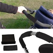 Black Fabric Armrest Handlebar Cover Cushion For Baby Child Stroller KI