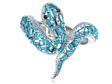 Aquamarine Blue Zircon Rhines Cobra Snake Silver  Fashion New Chic Bracelet