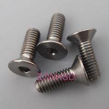 4pcs M4 x 12 mm Titanium Ti Screw Bolt Allen Hex Socket Flat Head AerospaceGrade