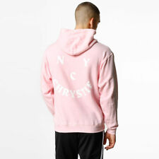 Chrystie Mens New York Hoodie In Baby Light Pink & White Size Extra Large BNWT