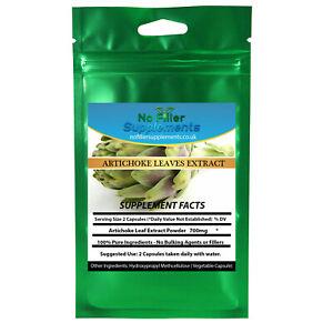 Artichoke Leaves Extract Vegetable Capsules NoFillerSupplements