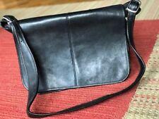 LeDonne Black Leather Full Flap 15-inch Laptop Messenger Bag