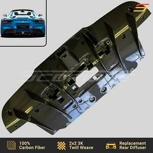 Scopione Carbon Fiber Rear Bumper Diffuser for Ferrari 16-19 488 GTB & Spider