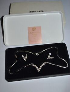 Pierre Cardin vintage gold plated Jewellery Set necklace & earings original box