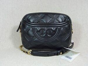 NEW Tory Burch Black Fleming Soft Small Camera Bag $398