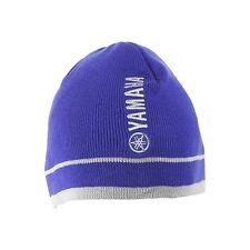 New Genuine Yamaha Adult Beanie Hat Blue Gray Yamaha Logo One Size Fits All
