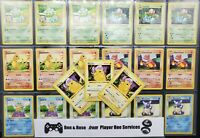 ⚠️ 1998 POKEMON - SHADOWLESS BASE SET CARDS ONLY ! ⚠️ Pokémon Vintage Lot WOTC