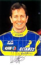 "Martin Brundle - Colour 6½""x 4"" Signed 'Ligier Gitanes Promo' - UACC RD223"