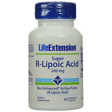 Life Extension Super R-Lipoic Acid 240 mg - 60 Vegetarian Capsules