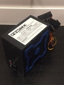 Brand NEW--Powork 650w-MAX BLUE 12cm Fan ATX Power Supply 20+4Pin SATA & PCIe