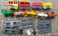 LEGO DUPLO TRENO TRAIN RAILLWAY MINI FIGURE VAGONI CARROZZE LOTTO LOT BUNDLE 2
