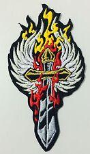FLAME SWORD BIKER MC PATCH