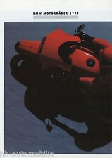 POSTER BMW-prospetto 1991 9/90 brochure k100rs k1 k75rt r65 r80 r100rt r80gs MOTO