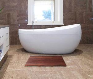 "100%Teak Bath Mat, Waterproof & non-slip, Spa or Shower Bathroom  31.5""x 19"""