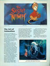 THE SECRET OF NIMH #2 April 1982 Don Bluth 4-page color newsletter