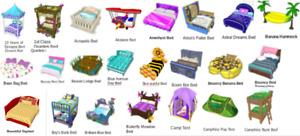 Webkinz virtual online BEDS - HUGE SELECTION Estore Promo, Mystery, Deluxe items