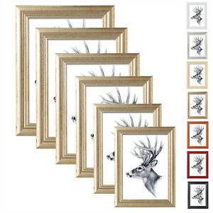 Bilderrahmen Holz Rahmen mit Passepartout Artos 10x15 13x18 15x20 20x30 A4 #52