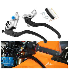 "2PCS 7/8"" CNC Hydraulic Brake Clutch Pump Master Cylinder Kit Reservoir Levers"