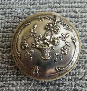 Antique Repouse Sterling Silver Pinwheel Pincushion