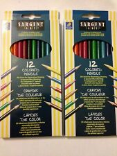 2 Pack Piece Lot: Sargent Art 12-Count Assorted Colored Pencils, New