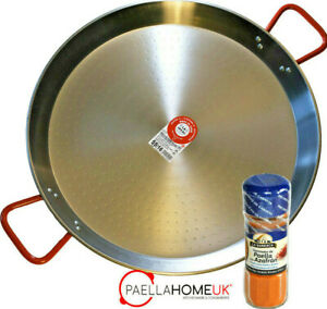 20cm PAELLA PAN PROFESSIONAL POLISHED CARBON STEEL + AUTHENTIC SPANISH GIFT