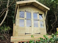 """8X6 +2FT CANOPY 19MM T/G TANALISED SUMMERHOUSE 3X2 CLS FRAMING 1"""" THICK FLOOR"""