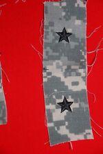US ARMY ISSUE 1 STAR GENERAL RANK BADGES CLOTH ACU COMBAT UNIFORM PAIR ORIGINAL